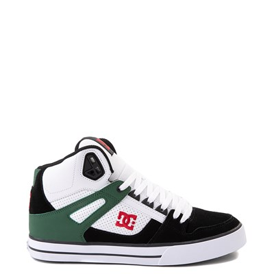 Main view of Mens DC Pure Hi SE Skate Shoe - White / Green / Black
