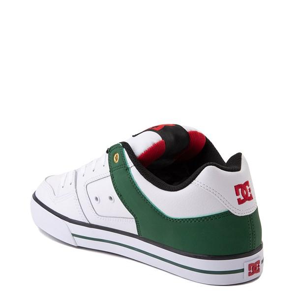 alternate view Mens DC Pure SE Skate Shoe - White / GreenALT2