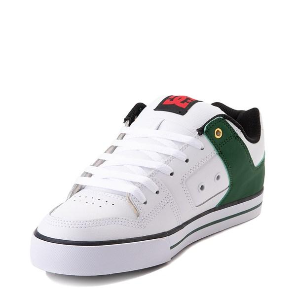 alternate view Mens DC Pure SE Skate Shoe - White / GreenALT3