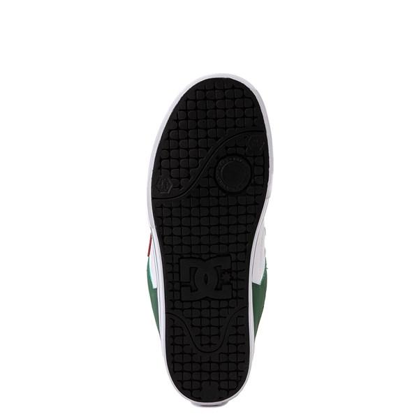alternate view Mens DC Pure SE Skate Shoe - White / GreenALT5