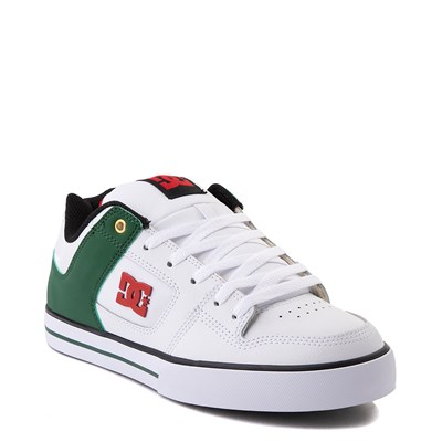 Alternate view of Mens DC Pure SE Skate Shoe - White / Green