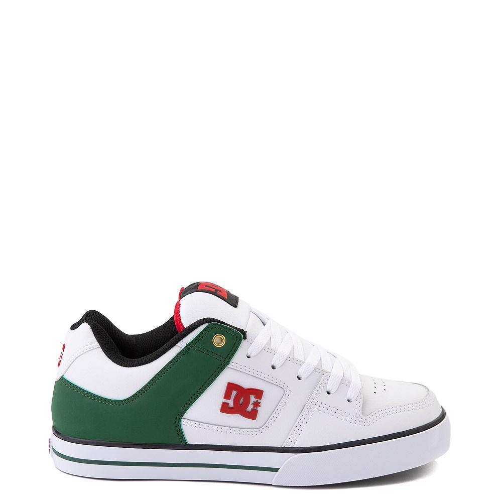 Mens DC Pure SE Skate Shoe - White / Green