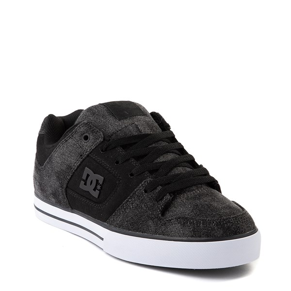 alternate view Mens DC Pure TX SE Skate Shoe - Black / Black DenimALT1