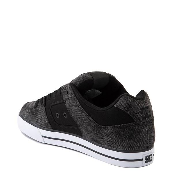 alternate view Mens DC Pure TX SE Skate Shoe - Black / Black DenimALT2