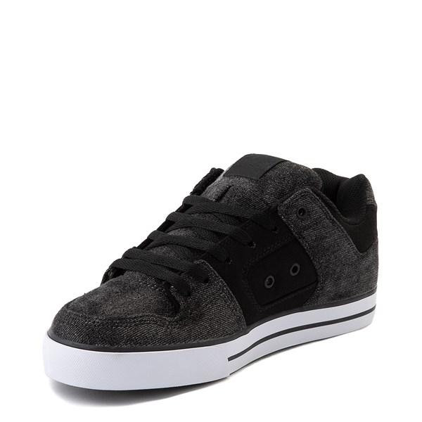 alternate view Mens DC Pure TX SE Skate Shoe - Black / Black DenimALT3