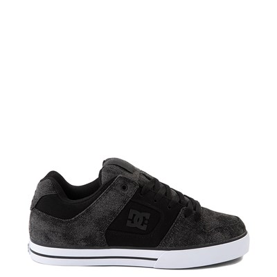 Main view of Mens DC Pure TX SE Skate Shoe - Black / Black Denim