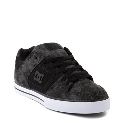 Alternate view of Mens DC Pure TX SE Skate Shoe - Black / Black Denim