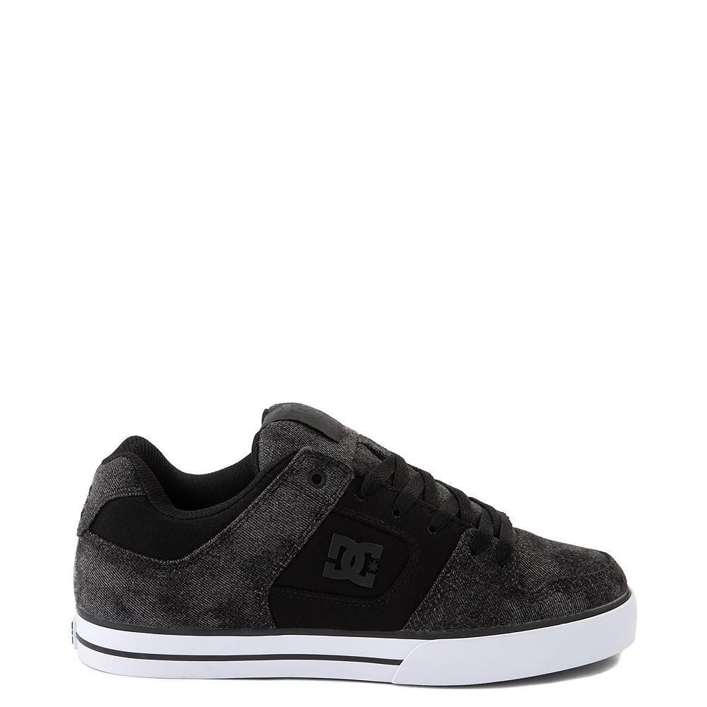 Mens DC Pure TX SE Skate Shoe - Black / Black Denim