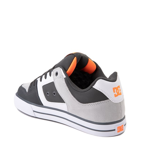 alternate view Mens DC Pure Skate Shoe - Dark Gray / OrangeALT2