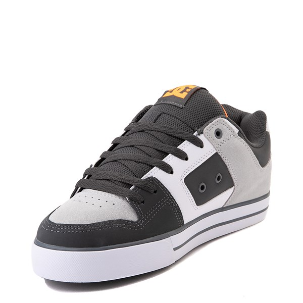 alternate view Mens DC Pure Skate Shoe - Dark Gray / OrangeALT3