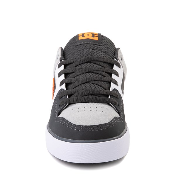 alternate view Mens DC Pure Skate Shoe - Dark Gray / OrangeALT4