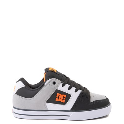 Main view of Mens DC Pure Skate Shoe - Dark Gray / Orange