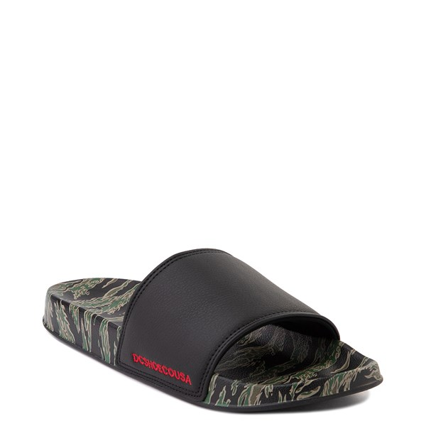alternate view Mens DC Slider SE Slide Sandal - Green / BlackALT1