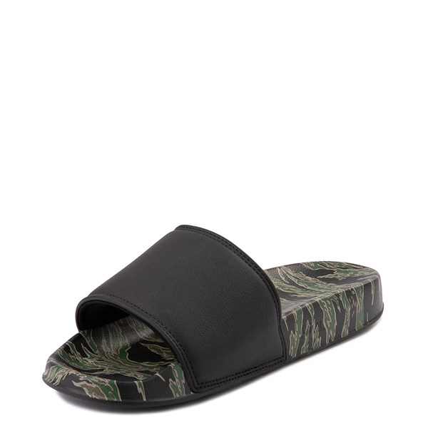 alternate view Mens DC Slider SE Slide Sandal - Green / BlackALT3