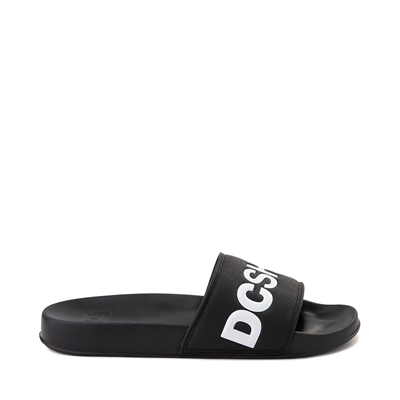 Main view of Mens DC Slider Slide Sandal - Black