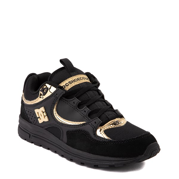 alternate view Womens DC Kalis Lite Skate Shoe - Black / GoldALT1