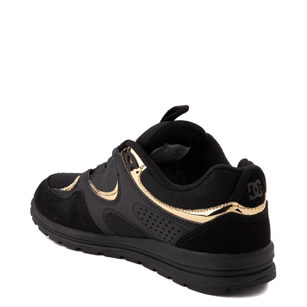 alternate view Womens DC Kalis Lite Skate Shoe - Black / GoldALT2