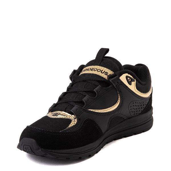 alternate view Womens DC Kalis Lite Skate Shoe - Black / GoldALT3