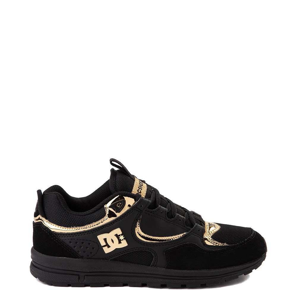 Womens DC Kalis Lite Skate Shoe - Black / Gold
