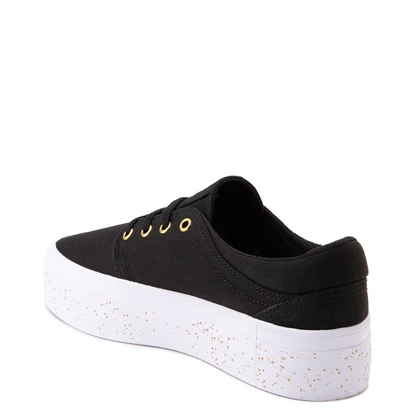 alternate view Womens DC Trase TX SE Platform Skate Shoe - Black / GoldALT2