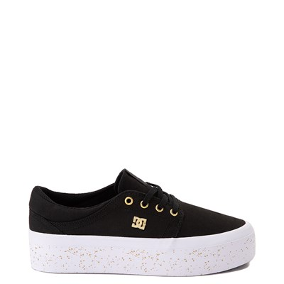 Main view of Womens DC Trase TX SE Platform Skate Shoe - Black / Gold