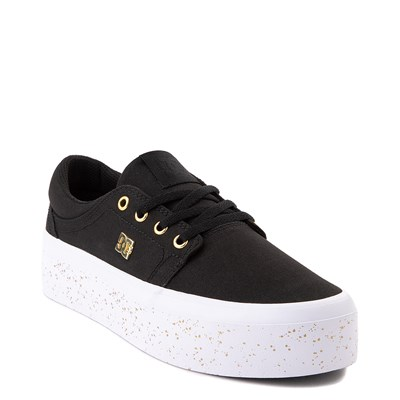 Alternate view of Womens DC Trase TX SE Platform Skate Shoe - Black / Gold