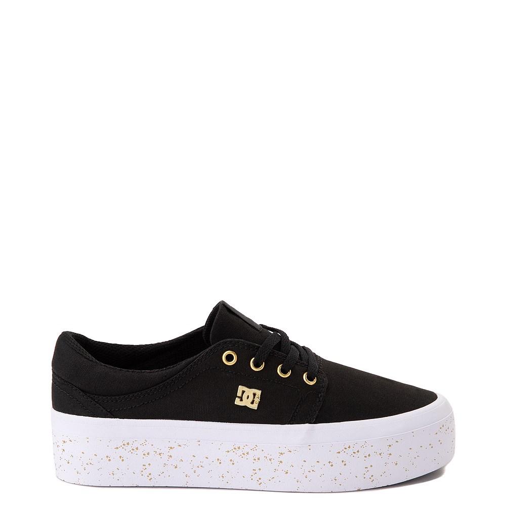Womens DC Trase TX SE Platform Skate Shoe - Black / Gold