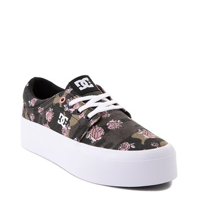 Alternate view of Womens DC Trase TX SE Platform Skate Shoe - Camo