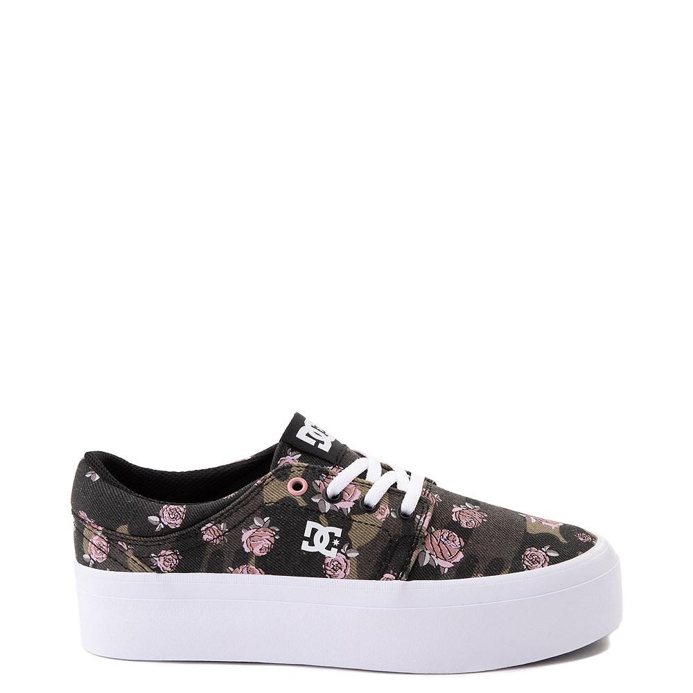 Womens DC Trase TX SE Platform Skate Shoe - Camo