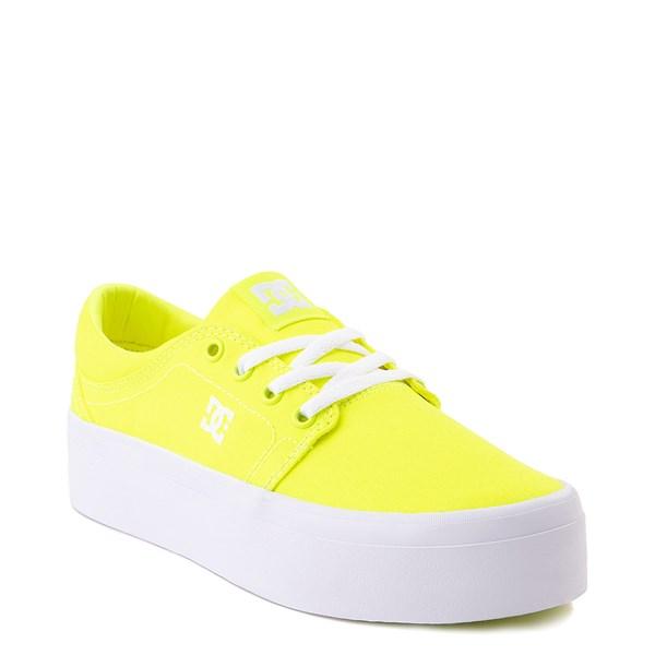 alternate view Womens DC Trase TX Platform Skate Shoe - Bright YellowALT1