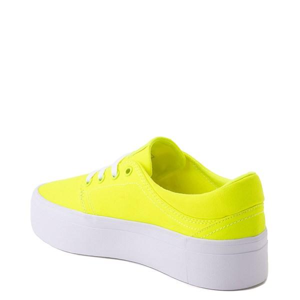 alternate view Womens DC Trase TX Platform Skate Shoe - Bright YellowALT2
