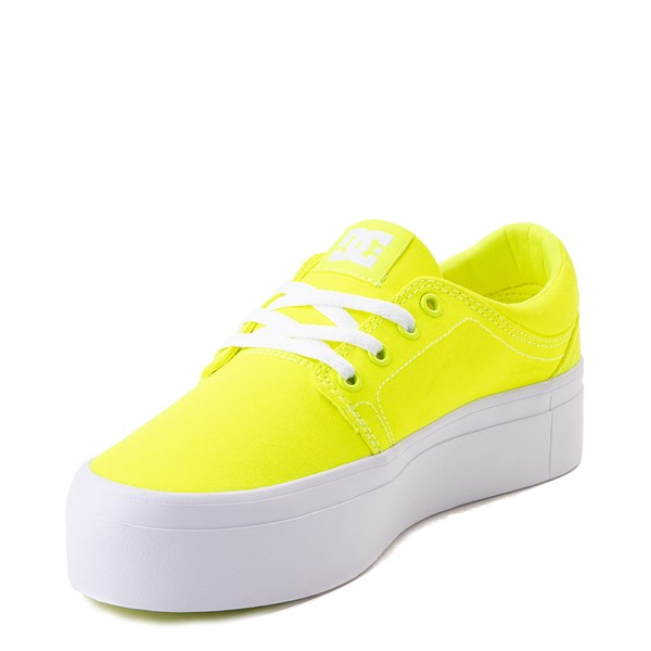 alternate view Womens DC Trase TX Platform Skate Shoe - Bright YellowALT3