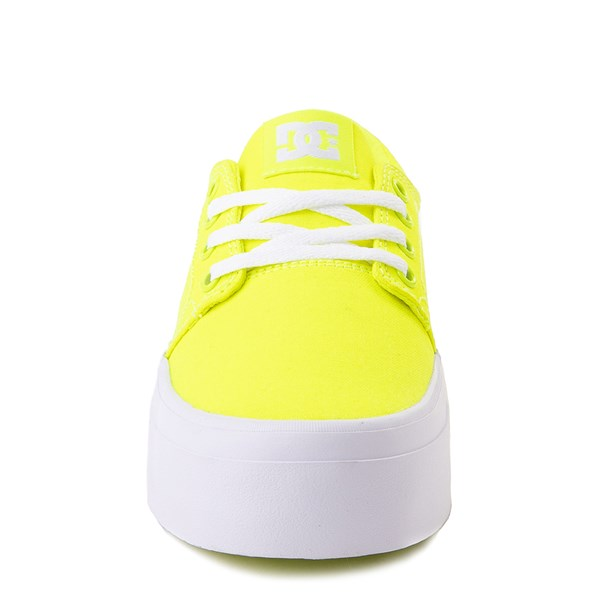 alternate view Womens DC Trase TX Platform Skate Shoe - Bright YellowALT4