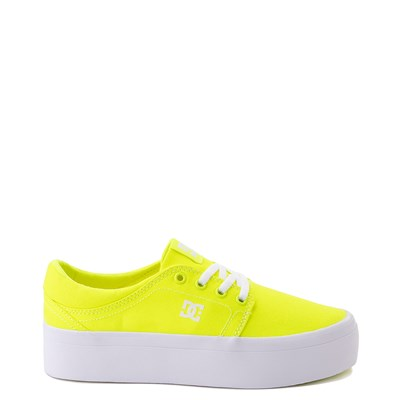 Main view of Womens DC Trase TX Platform Skate Shoe - Bright Yellow