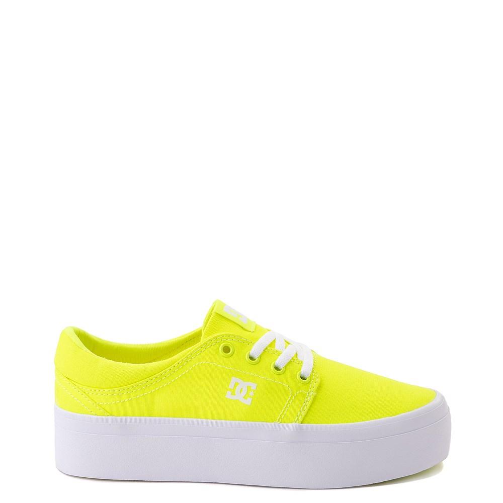 Womens DC Trase TX Platform Skate Shoe - Bright Yellow