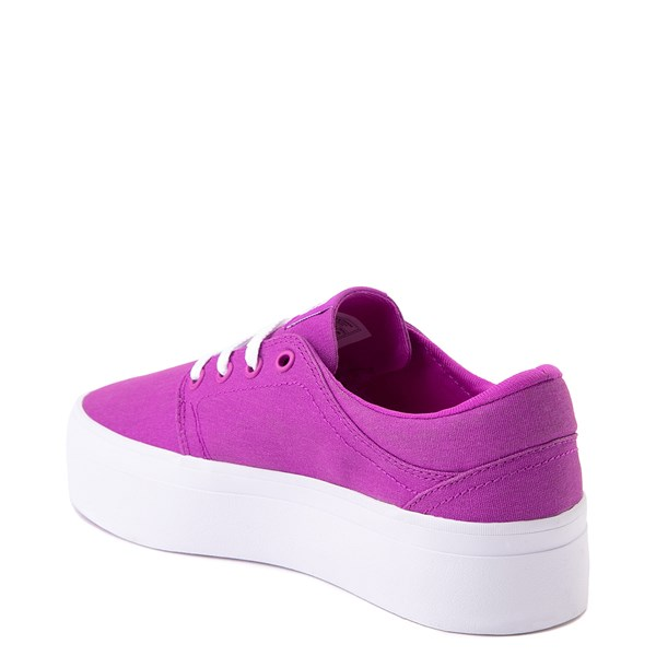 alternate view Womens DC Trase TX Platform Skate Shoe - PurpleALT2