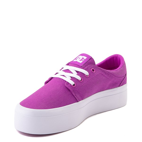 alternate view Womens DC Trase TX Platform Skate Shoe - PurpleALT3