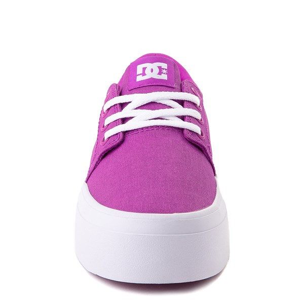 alternate view Womens DC Trase TX Platform Skate Shoe - PurpleALT4