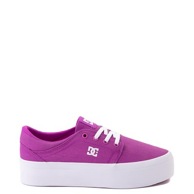 Main view of Womens DC Trase TX Platform Skate Shoe - Purple