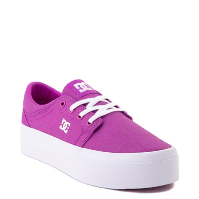 Alternate view of Womens DC Trase TX Platform Skate Shoe - Purple