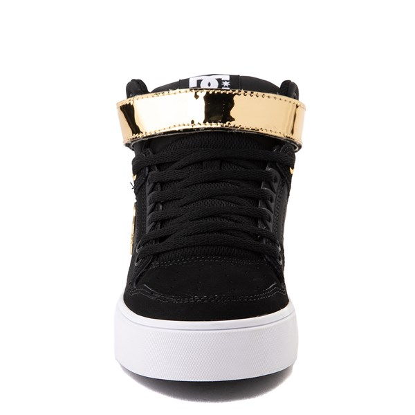 alternate view Womens DC Pure Hi V Skate Shoe - Black / GoldALT4