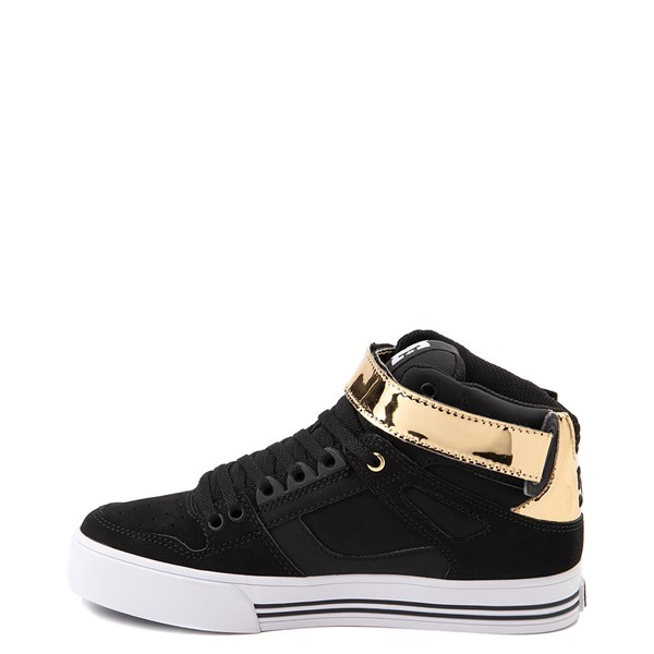 alternate view Womens DC Pure Hi V Skate Shoe - Black / GoldALT7