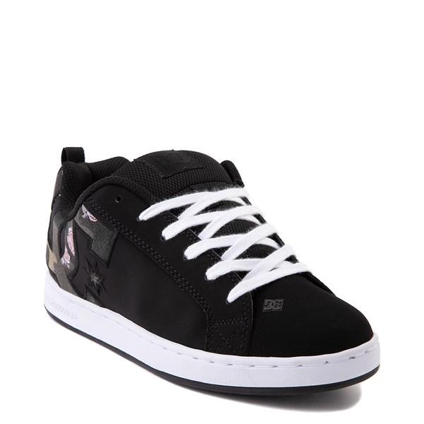 alternate view Womens DC Court Graffik SE Skate Shoe - Black / CamoALT1