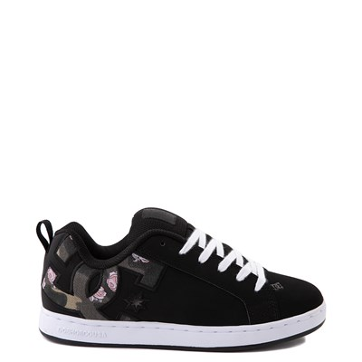 Main view of Womens DC Court Graffik SE Skate Shoe - Black / Camo