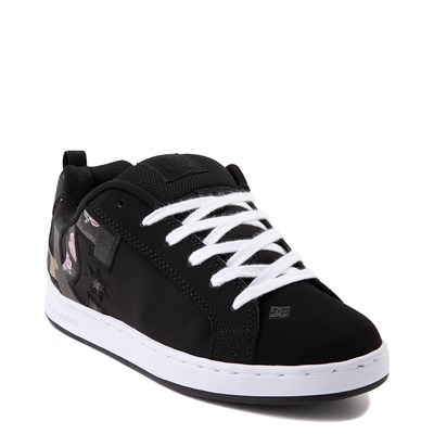 Alternate view of Womens DC Court Graffik SE Skate Shoe - Black / Camo