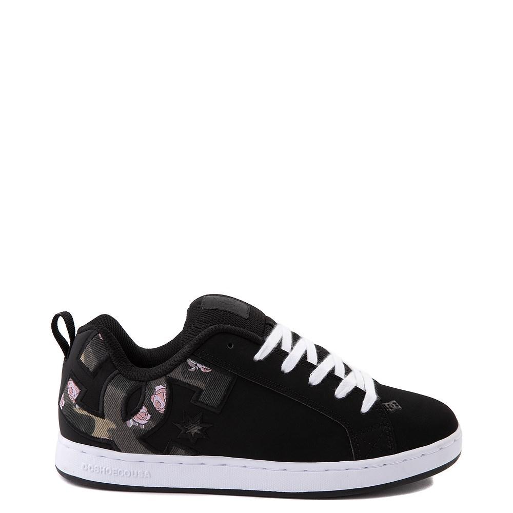 Womens DC Court Graffik SE Skate Shoe - Black / Camo