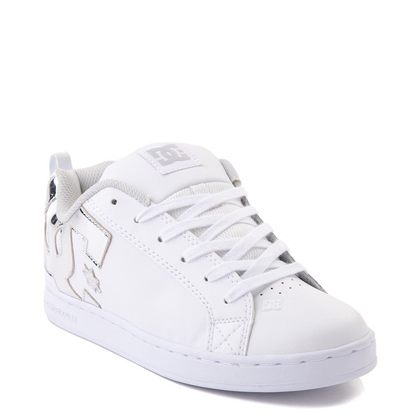 alternate view Womens DC Court Graffik Skate Shoe - White / SilverALT1
