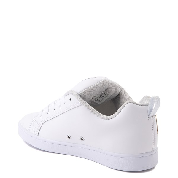 alternate view Womens DC Court Graffik Skate Shoe - White / SilverALT2