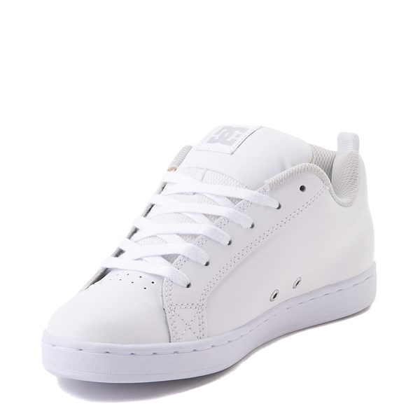 alternate view Womens DC Court Graffik Skate Shoe - White / SilverALT3