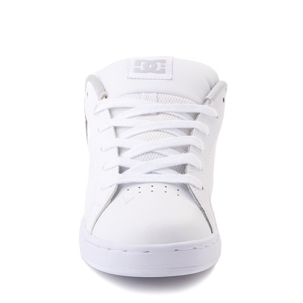 alternate view Womens DC Court Graffik Skate Shoe - White / SilverALT4